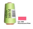 Fluorescent Pink Overlocking Thread 3000m