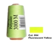 Fluorescent Yellow Overlocking Thread 3000m