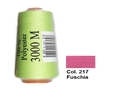 Fuschia Overlocking Thread 3000m