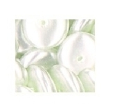 Medium Ivory Saucer Shaped Pearls 44pk