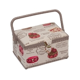 Medium Patisserie on Khaki Sewing Basket