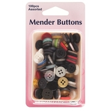 Mender Buttons Assorted 100 Pack
