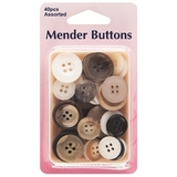 Mender Buttons Assorted 40 Pack