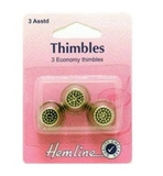 Metal Thimbles 3 Assorted Sizes