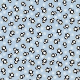 Mini Penguins on Blue Fabric Fat Quarter