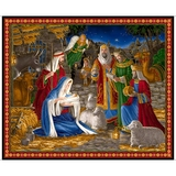 Miracle in Bethlehem Nativity Scene Fabric Panel