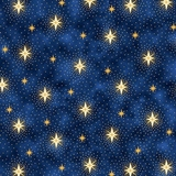 Miracle in Bethlehem Sparkling Stars on Navy Fabric