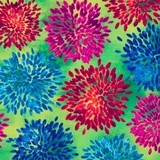 Mirage Multi Floral on Green Fabric