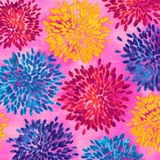 Mirage Multi Floral on Pink Fabric