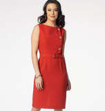 Misses' Dress and Belt B6008 Sizes 8, 10, 12, 14, 16, 18, 20, 22, 24