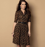 Misses' Dress and Belt B6090 Sizes 8, 10, 12, 14, 16