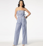 Misses' Jumpsuit In 2 Lengths, and Sash B6010 4, 6, 8, 10, 12, 14, 16, 18, 20