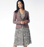Misses' Lined Jacket and Dress B5975 Sizes 6, 8, 10, 12, 14, 16, 18, 20, 22