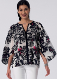 Misses' Raglan Sleeve Tops and Jackets M7362 Sizes XSM, SML, MED