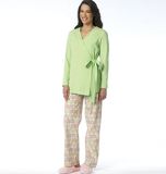 Misses' Robe, Top and Pants B6159 Sizes 6, 8, 10, 12, 14, 16, 18, 20, 22