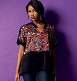 Misses' Top B5955/Y(XSmall-Small-Medium)