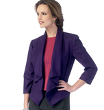 Misses' Vest and Jacket B6077 Sizes 6, 8, 10, 12, 14, 16, 18, 20, 22