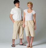 McCalls M6933/OS | Misses/Men's/Teen Boys Shorts | Size XSM (SML-MED-LRG-XLG) | Sewing Pattern