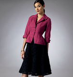 Misses'/Misses' Petite Jacket and Skirt  B5962/F5(16-18-20-22-24)