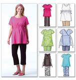 Misses'/Misses' Petite Maternity Top, Shorts and Pants B4201 Sizes 20, 22, 24
