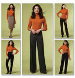 Misses'/Misses' Petite Skirt And Pants B5391/BB(8-10-12-14)