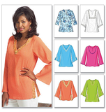Misses'/Misses' Petite Top and Tunic B4684/Y(XS-S-M)