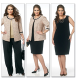 Misses'/Women's Jacket, Dress, Skirt and Pants  B5719/RR(18W-20W-22W-24W)