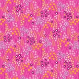 Mountain Meadow Multi Meadow Drift on Pink Fabric