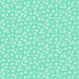 Mountain Meadow Star Flowers on Turquoise Fabric