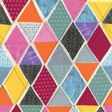 Multi Field Study Diamonds Fabric