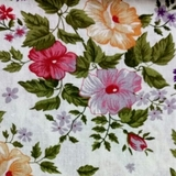 Multi Floral on Beige Fabric For Craft & Bag Making