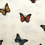 Multicolour Butterfly on Beige Fabric For Craft & Bag Making