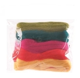 Natural Wool Roving Assorted Brights 50 Grams