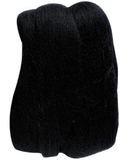Natural Wool Roving Black 10 Grams