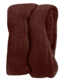 Natural Wool Roving Chocolate 10 Grams