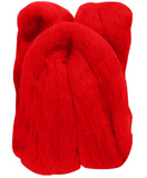 Natural Wool Roving Cranberry 10 Grams