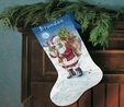 Naughty or Nice? Stocking Counted Cross Stitch Kit Clearance