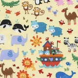 Noahs Ark Two By Two Animals Fabric