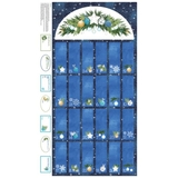 O Christmas Tree Calendar on Navy Fabric Panel