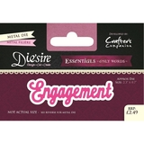 Crafter's Companion DS-E-W-37 | Engagement Die | Only Words Templates | Die Cutting