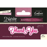 Crafter's Companion DS-E-W-56 | Thank You Die | Only Words Templates | Die Cutting