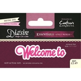 Crafter's Companion DS-E-W-41 | Welcome To Die | Only Words Templates | Die Cutting