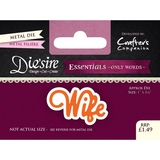 Crafter's Companion DS-E-W-12 | Wife Die | Only Words Templates | Die Cutting