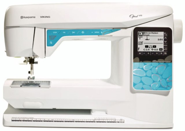 Husqvarna Viking Opal 670 & Huskylock S15 Overlocker Included for a £1 Sewing Machine