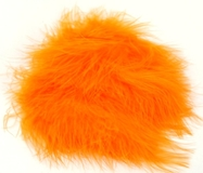 Orange Marabou Feathers 20pk