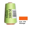 Orange Overlocking Thread 3000m