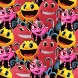 Pac-Man Characters Multi Fabric