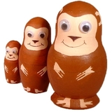 Painta Pets Mitch the Monkey Nesting Doll