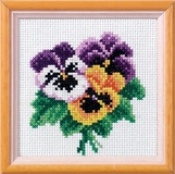 Pansy Cross Stitch Kit