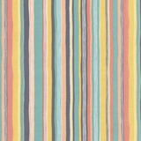 Pastel Multicolour Wavy Stripe Fabric